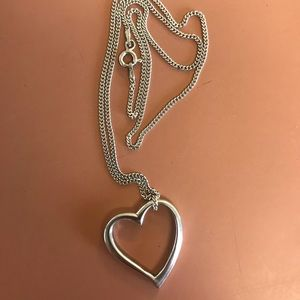Jewelry - 925 Sterling Silver Floating Heart Pendant